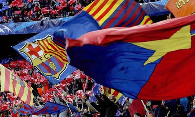 Barça banderas camp nou