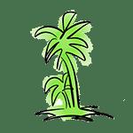 dibujo logotipo la palmera restaurante
