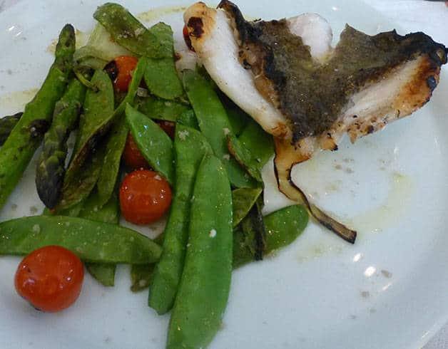 Fragments Cafè plato de pescado