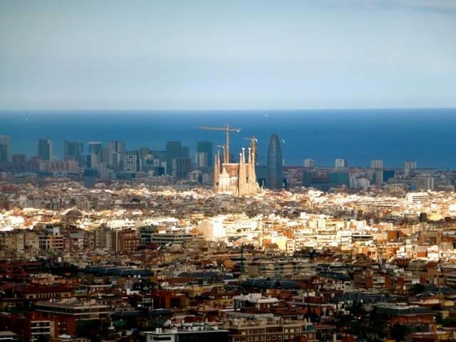 carretera de les aigües vista panorámica barcelona