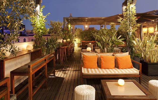 terrazas de hotel: hotel pulitzer