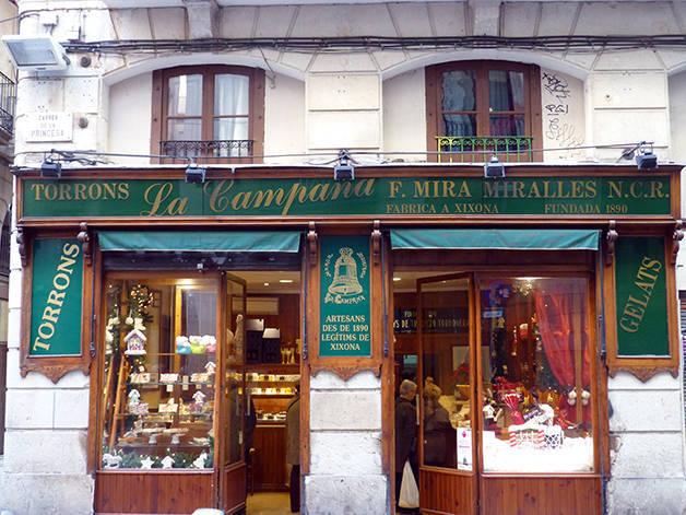 torrons campana tiendas Via Laietana