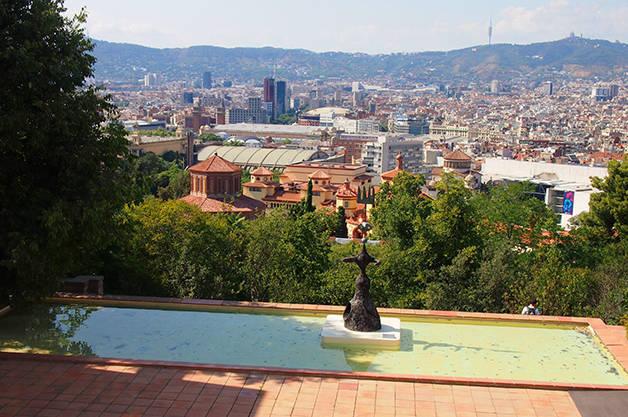fundación miró vista panorámica de Barcelona