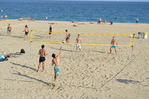 playas de Barcelona voleibol-playa