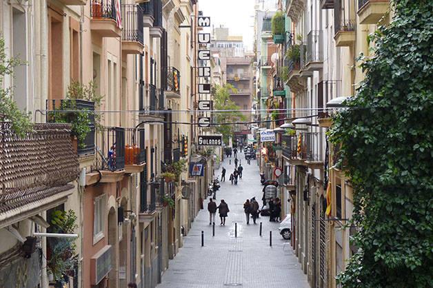 poble-sec sants calle de barrio
