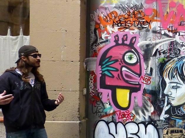 arte callejero a Barcelone con Mike
