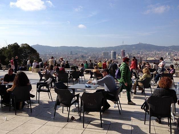 terraza soledada Mnac