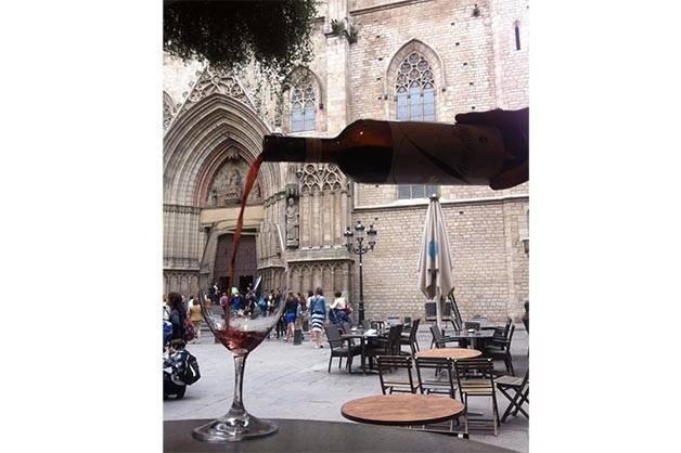 la vinya del senyor: una copa de vino tinto