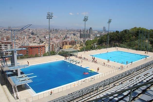 Piscinas descubiertas en Barcelona, Montjuïc