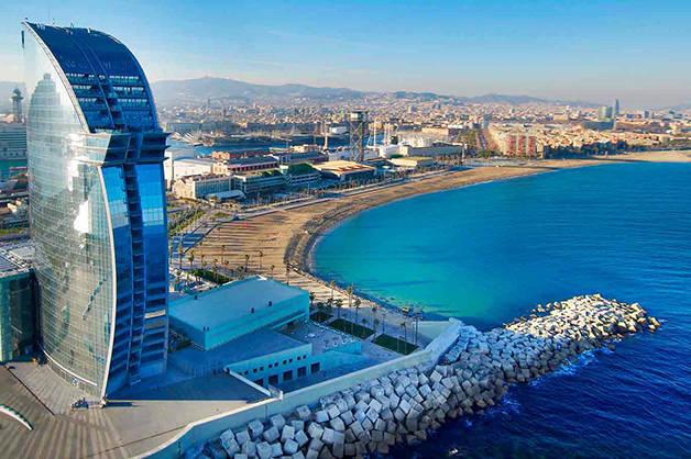 playas de Barcelona hotel W vista
