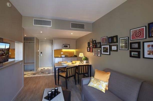 salón de un apartamento citadines ramblas