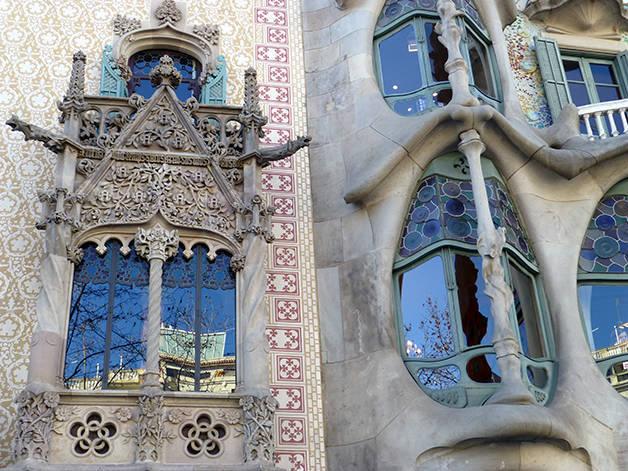 detalles fachadas barcelona auténtica