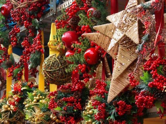 mercado de Navidad en Barcelona noviembre