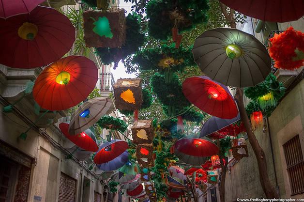 Paraguas: fiestas de Gràcia actividades gratuitas