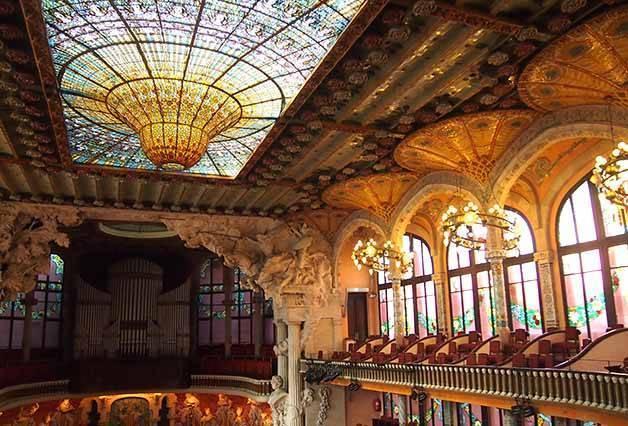 cúpula y balcones del palau de la música catalana