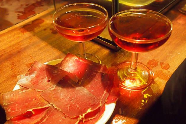 la Xampanyeria jamón ibérico copas