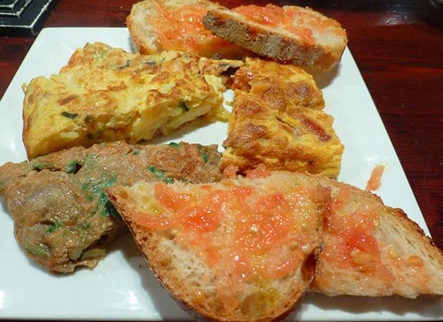 desayunar en Barcelona, tortillas leku