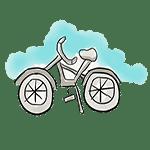 dibujo bicicleta
