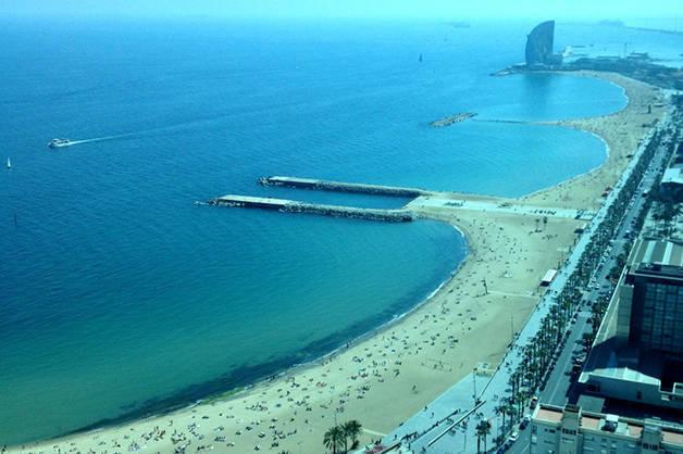 playas Barcelona con niños