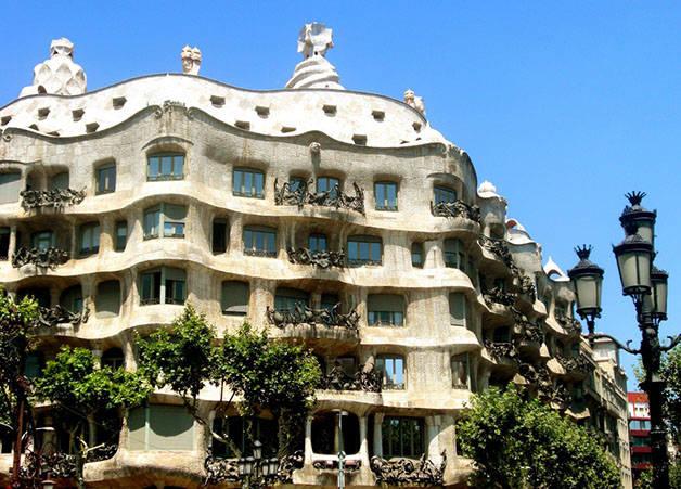 fachada pedrera: Barcelona insólita