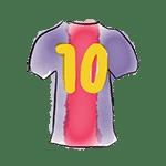 dessin maillot barça numéro 10