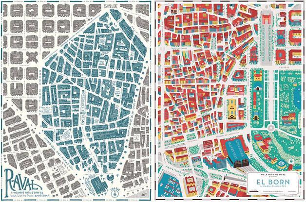 planos de barrios de Barcelona Grey Street