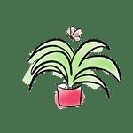 dibujo planta verde