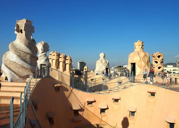 casa milà pedrera arquitectura en Barcelona
