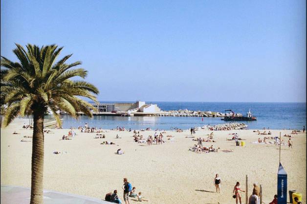 Barceloneta playa Barcelona como un local