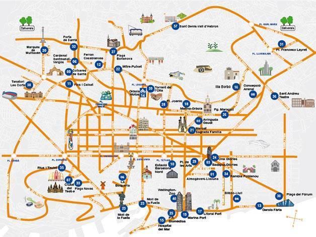 mapa parkings baratos BSM Barcelona