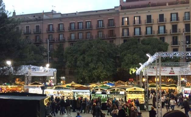 fira santa llucia mercados de Navidad