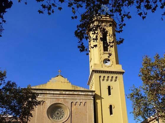 Sarrià iglesia les Corts barrio