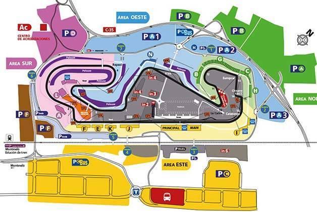 plano circuito gran premio de España fórmula 1