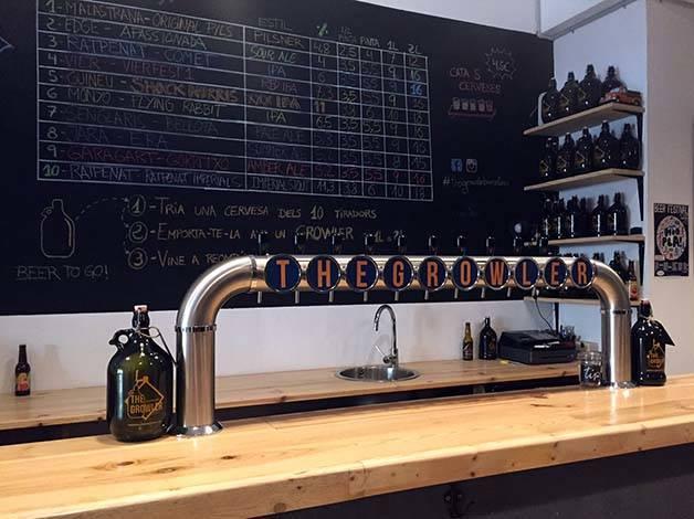 the-growler-cerveza-artesanal mostrador