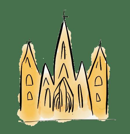 dibujo catedral