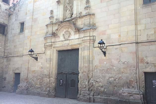 barrio gótico de Barcelona impacto de balas