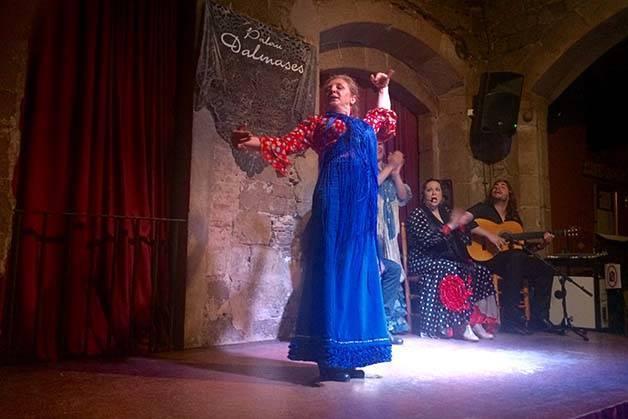 espectáculo de flamenco en Barcelona bailaora