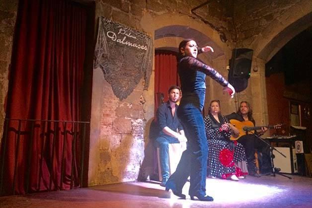 espectáculo de flamenco en Barcelone bailaora
