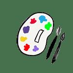 dibujo paleta pintura