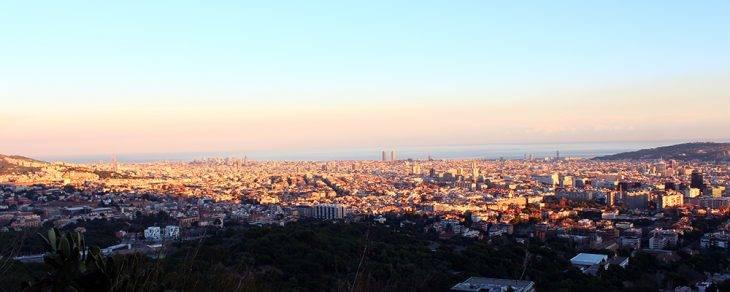 febrero vista sobre Barcelona