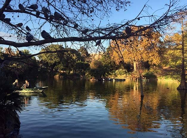 parc de la ciutadella lago