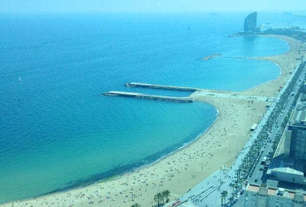 transporte a Barcelona playa