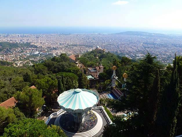 Tibidabo vista Barcelona