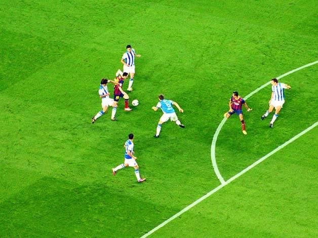 partido de fútbol Barça
