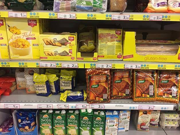 productos sin gluten