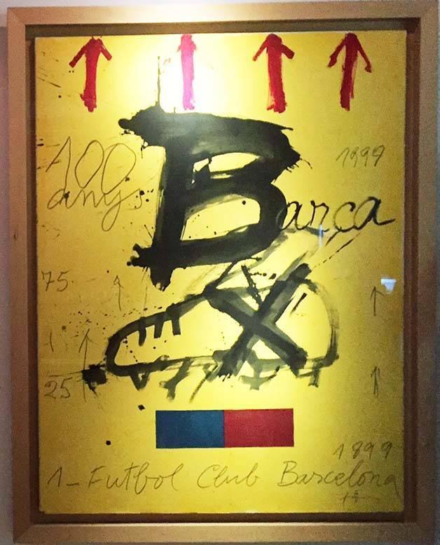 Antoni Tàpies cartel Barça