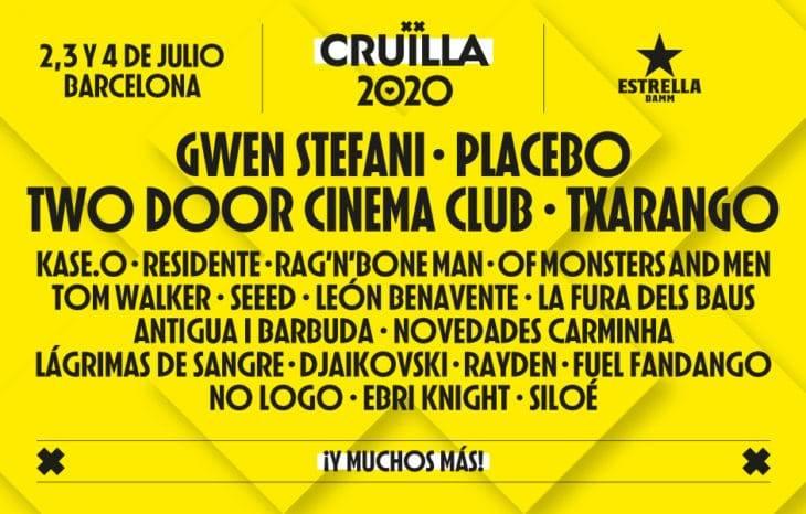 affiche festival cruïlla 2020