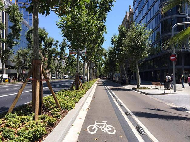 carril bici Barcelona Diagonal