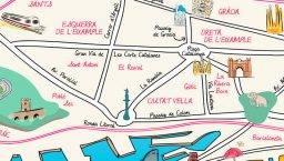 mapa Barcelona barrio
