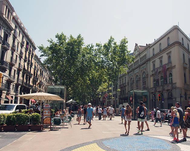 las ramblas: visitar Barcelona